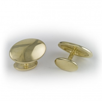 9 Carat Gold Oval Cufflinks