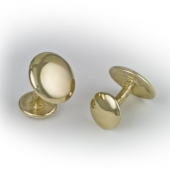 9 Carat Gold Round Cufflinks (medium)