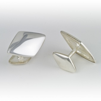 Wide Diamond Cufflinks