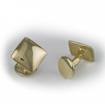 9 Carat Gold Diagonal Square Cufflinks (large)