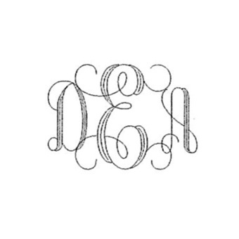 Initials On Front - Interlocking Monogram