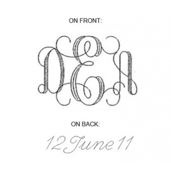 PIF10 - Interlocking Monogram  (with engraving on back)