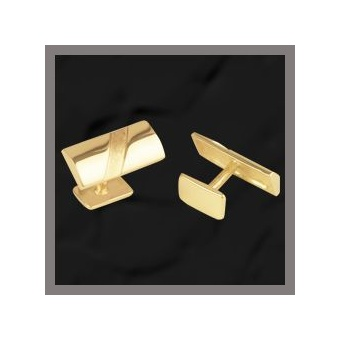9 Carat Gold Bar: Frosted Slash Cufflinks