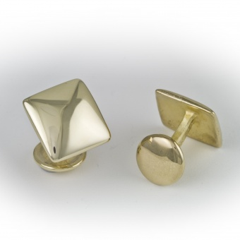 9 Carat Gold Square Cufflinks